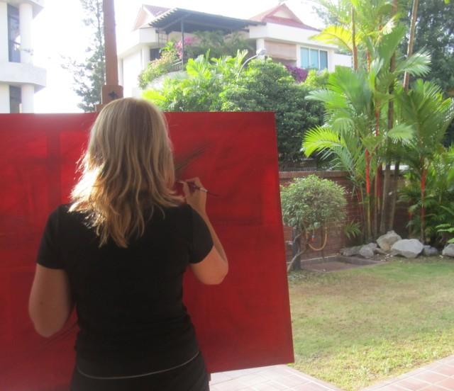 Ingela painting