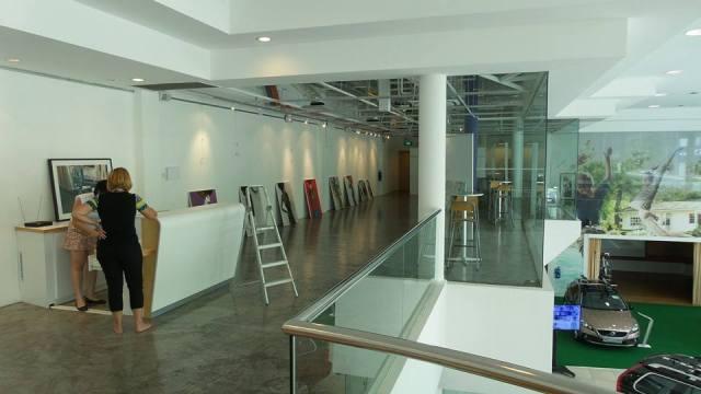 Art exhibition set up