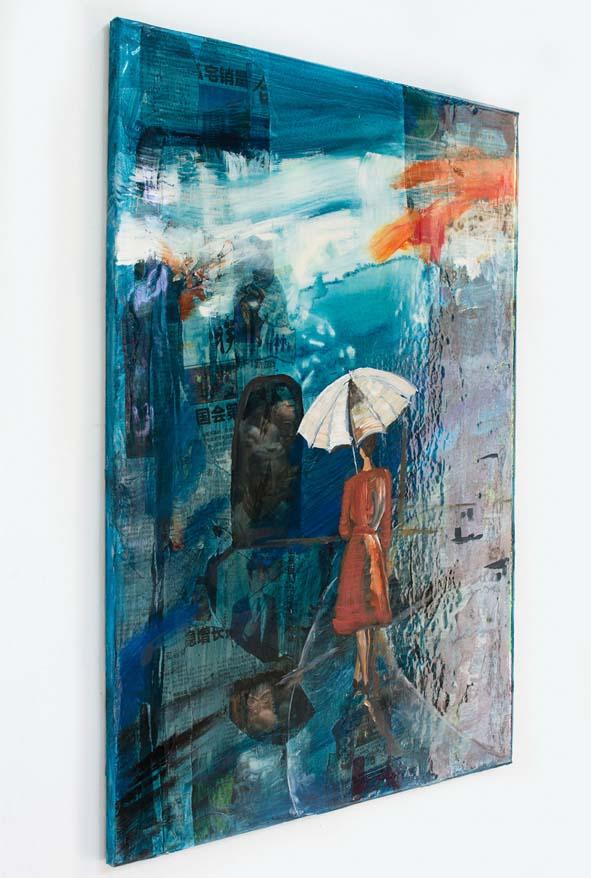Blue umbrella side 80_64 Collage