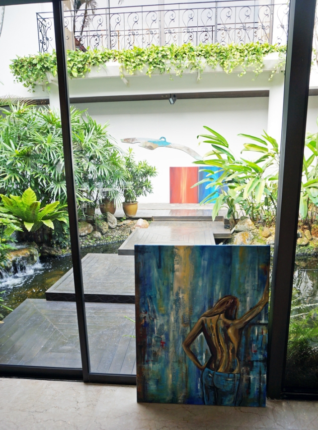 Art in the garden at the Residence of the Swedish ambassador in Singapore