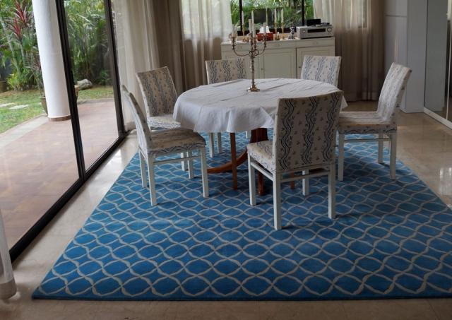 Royal blue room