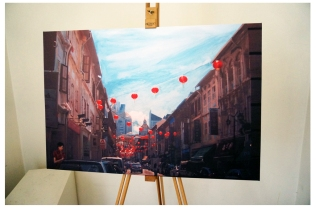 Fine art print Chinatown on canvas