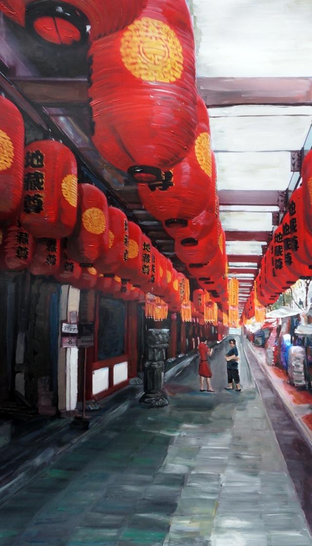 ladies meeting under red lanterns tales