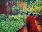 Monk towards Haji Lane tale