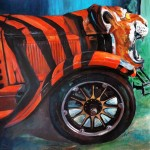 Tiger car tales 60x60 cm